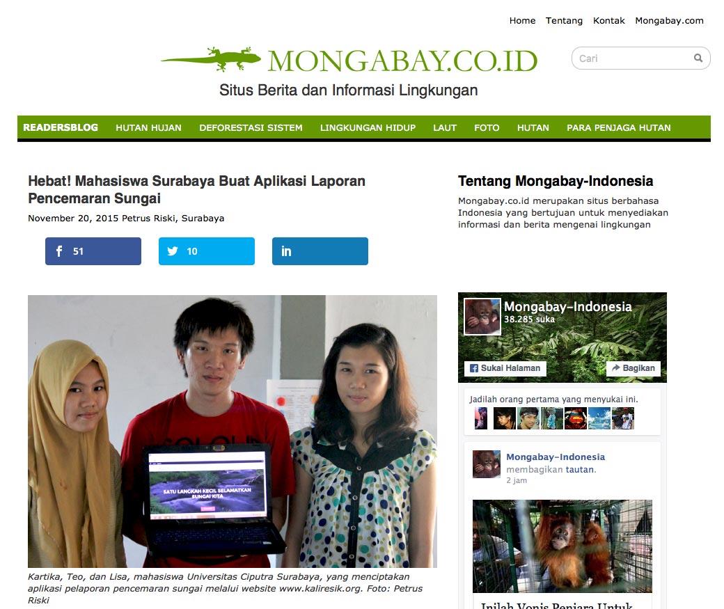 Laporkan Pencemaran Sungai, Hebat! Mahasiswa Surabaya Buat Aplikasi Laporan Pencemaran Sungai