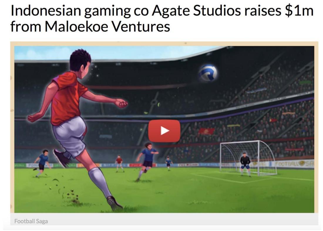 Investasi Maloekoe Ventures sebesar US$ 1 juta untuk Agate Studio, tampak di gambar salah satu karya Agate Studio yang paling populer: Football Saga