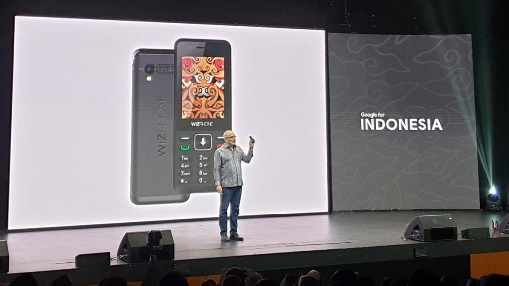 Ponsel murah WizPhone yang memiliki kemampuan menjalankan aplikasi Android yang dipernalkan dalam ajang Google for Indonesia