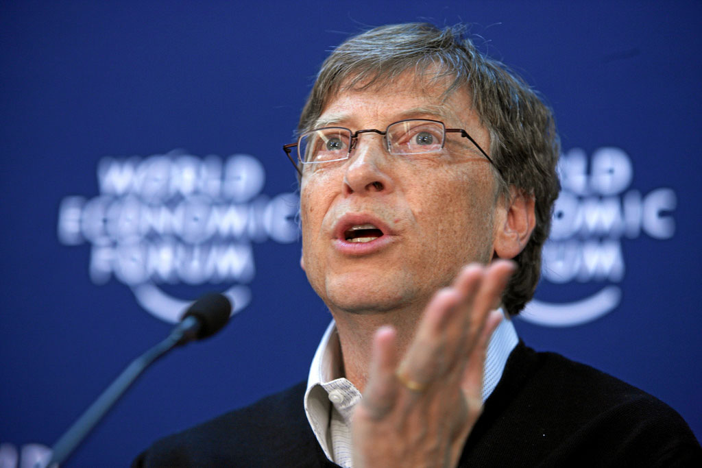 Bill Gates, source: https://www.flickr.com/photos/worldeconomicforum/2297194352