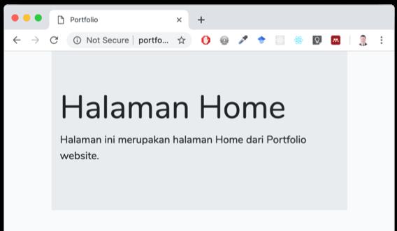 Tampilan Home dengan Bootstrap CSS