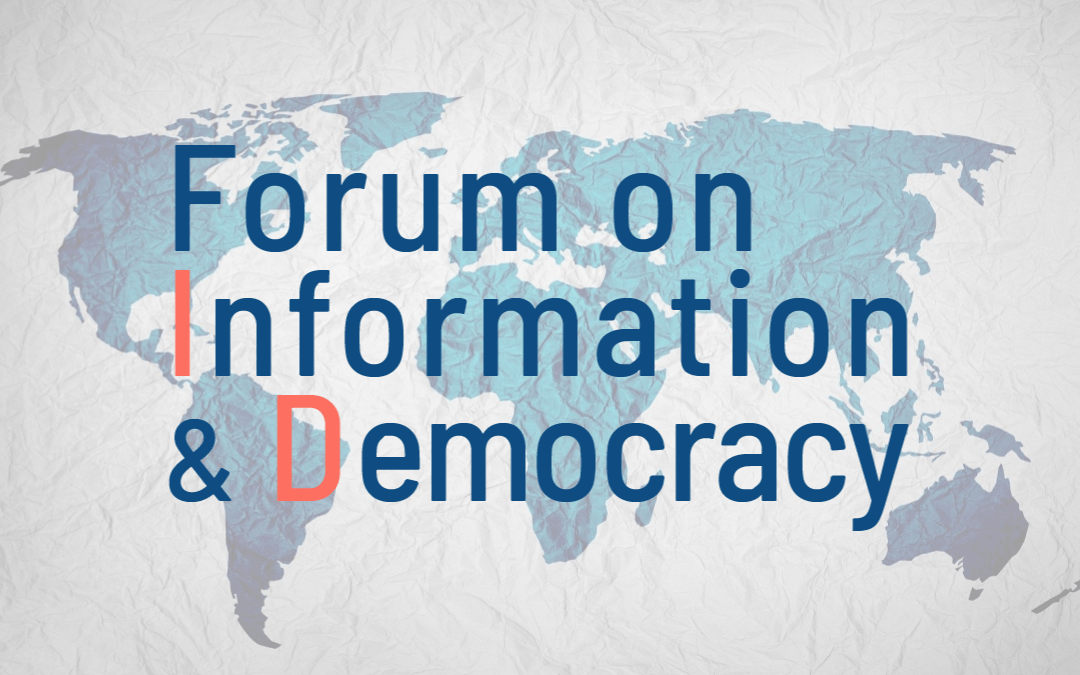 Eleven organizations from civil society create the Forum on Information & Democracy, a structural response to information disorder