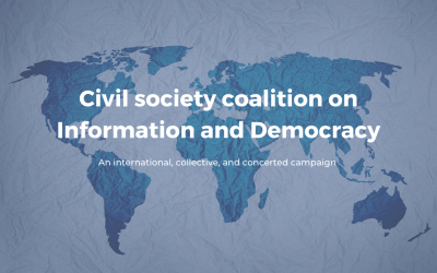The Forum on Information and Democracy launches a civil society coalition with 42 non-governmental organizations from 24 countries