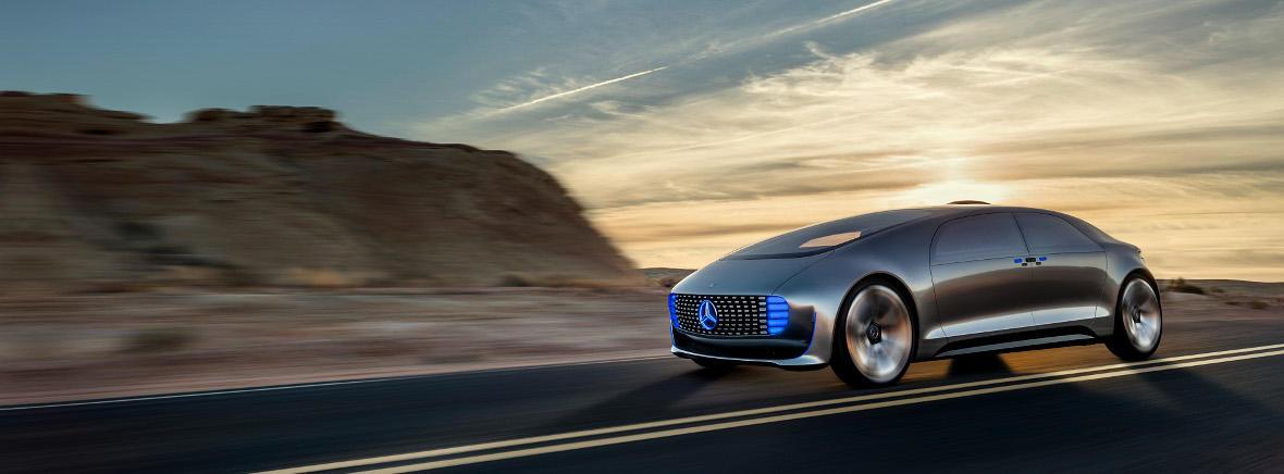 Mercedes driverless car