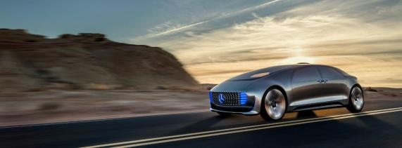 Mercedes driverless car