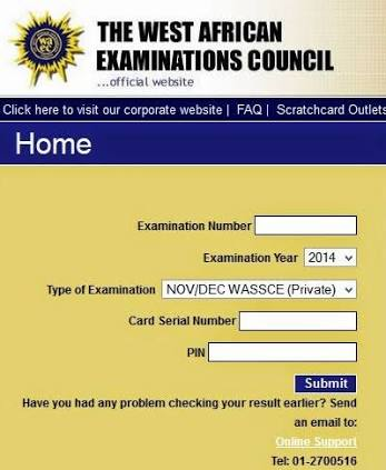 Hiw to check waec result