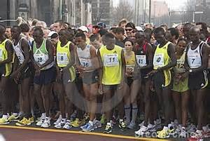 Athletes at Berlin Half Marathon.