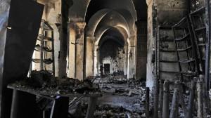 Umayyad mosque destroyed
