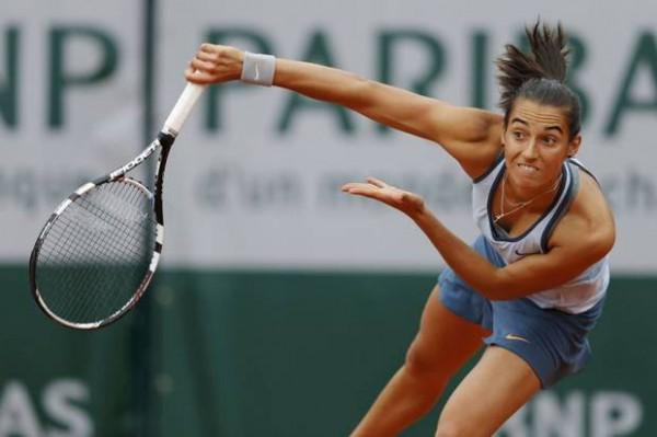 Caroline Garcia Struggling With Williams' Ace.