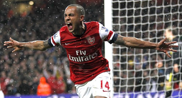 Theo Walcott Regains the Lead for the Home Team.