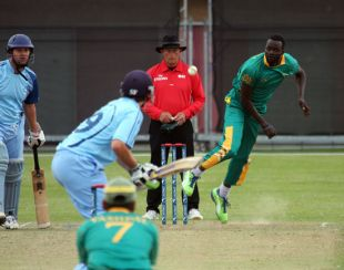 Team Captain Adekunle Adegbola Bowling in One of the Actions From Saturday (No Result)