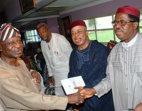 FROM LEFT: CHAIRMAN, NATIONAL DIALOGUE ADVISORY COMMITTEE, SEN. FEMI OKORUONMU; SECRETARY GENERAL, OHANAEZE NDI IGBO, MR JOE NWOGU; FORMER SENATE PRESIDENT, KEN NNAMANI AND FORMER EBONYI STATE GOVERNOR, DR SAM EGWU, DURING THE COMMITTEE'S STAKEHOLDERS MEETING IN ENUGU ON WEDNESDAY