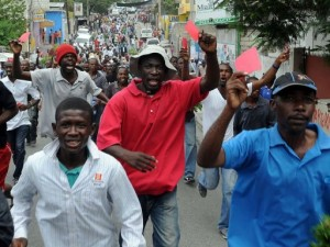 red card for Haitian president