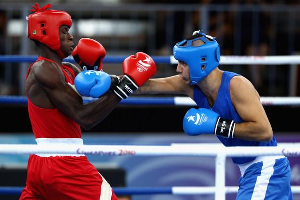 Nigeria's Muideen Akanji Representing the Nation at the 2010 Delhi Commonwealth Games.
