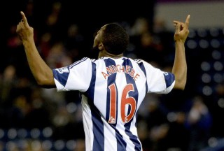 Anichebe Celebrates Scoring Against Manchester City on Wednesday.