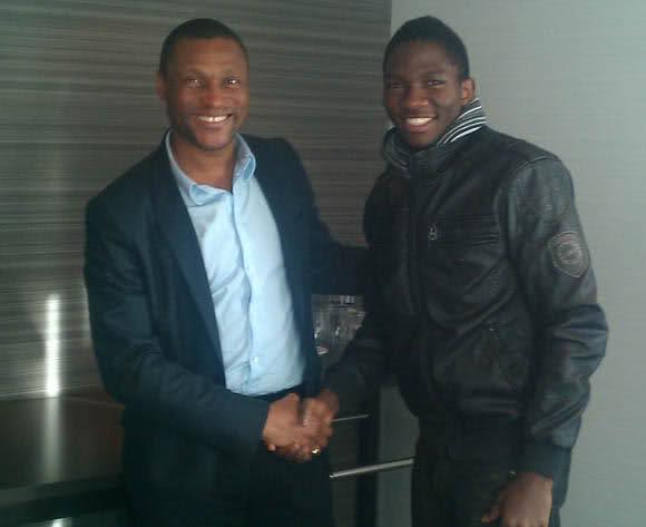 Omeruo and Chelsea Technical Director Mike Emenalo.