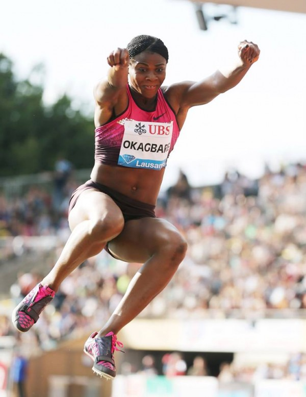 Okagbare Recorded her 2013 Personal Best in the Long Jumps in Switzerland.