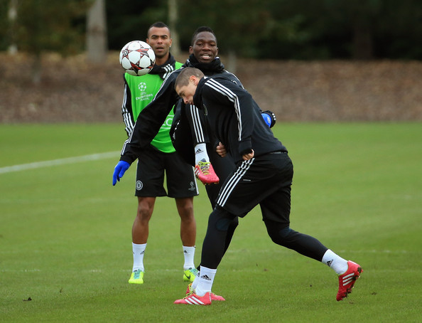 Kenneth Omeruo, in Chelsea Training.