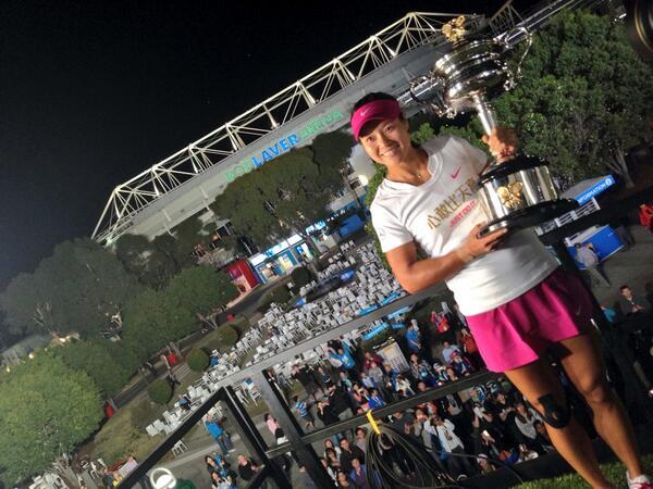 Li Na Wins Australian Open Women's Singles.