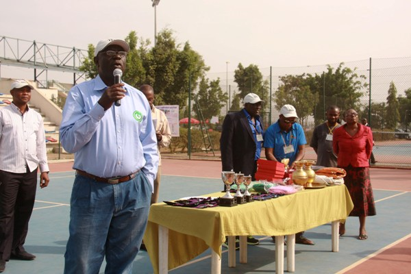 Sani Ndanusa at the Medal Presentation ceremony for the 2014 AJTC Championship. Image By Femi Church.