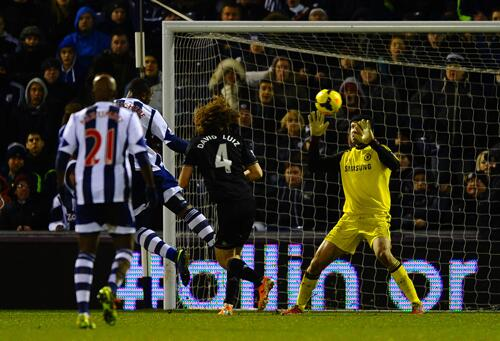 West Brom's Anichebe Scored a Late Equaliser to Deny Chelsea All Three Point At the Hawthorns. Getty Image.