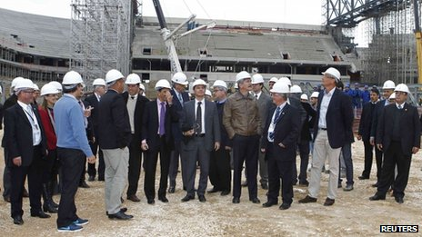 Fifa Secretary General Jerome Valcke During His Inspection of the Arena da Baixada in January.