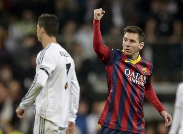 Lionel Messi's Second Goal on Sunday Night Made HIm the Second Highest La Liga Goal Scorer. AFP.