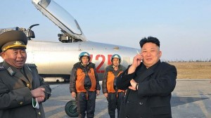 Kim Jong-Un (right)  Source: AFP