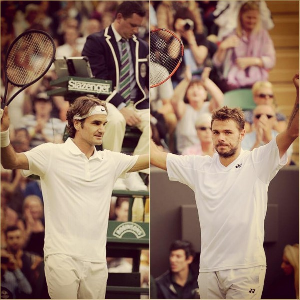 This is the First Time Two Swiss Players are Through to the Quarter-Finals of Wimbledon and Both Would Have to Go Head to Head.  Image Credit: AECLT.