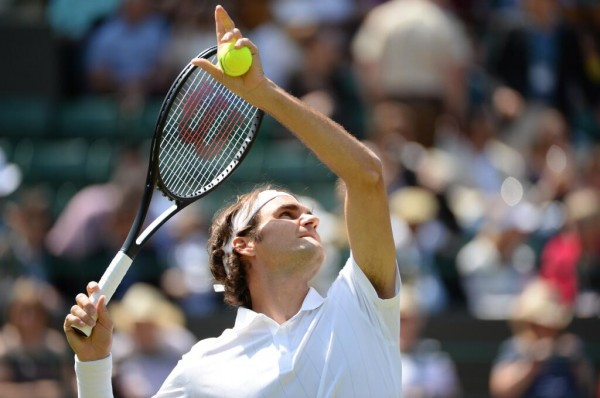 Roger Federer Knocks Out Tommy Robredo to Set up Countryman Stanislas Wawrinka in the Last-8. Image Credit: AECLT.