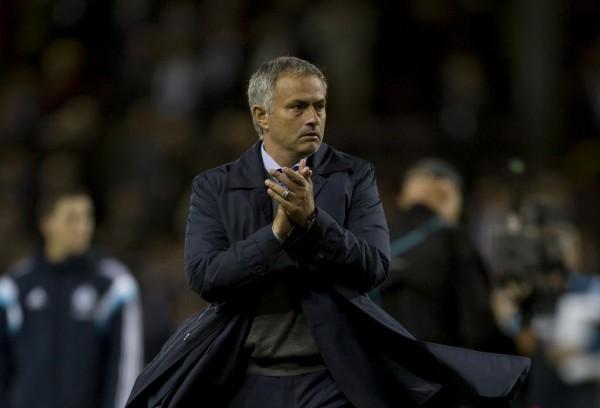 Jose Mourinho Applauds Fans After Burnley Win.