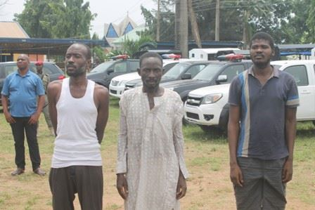 photos of deadly armed robbers kidnappers and cultists arrested in imo state photos - Police arrest 15 suspected criminals, recover guns, ammunition in Enugu