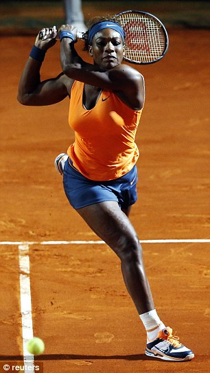Powerful Back- Hand: Serena Williams Agaonst Laura Robson.