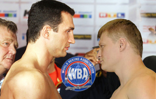 Wlidimir Klischko vs Alexander Povetkin.