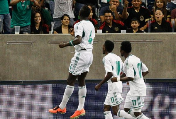 John Ogu Celebrates Scoring Against Mexico.