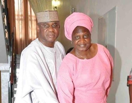 SENATE PRESIDENT DAVID MARK AND HIS WIFE HELEN CUTTING A CAKE TO MARK HER 64TH BIRTHDAY IN ABUJA ON SATURDAY