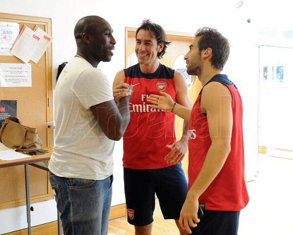 Sol Campbell and Robert Pires Came Arround. PIres is Keeping Fit; Campbell is Totally Out of It.