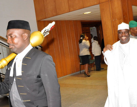 SPEAKER, HOUSE OF REPRESENTATIVES AMINU TAMBUWAL, GOING FOR PLENARY  AS THE HOUSE RESUMED IN ABUJA
