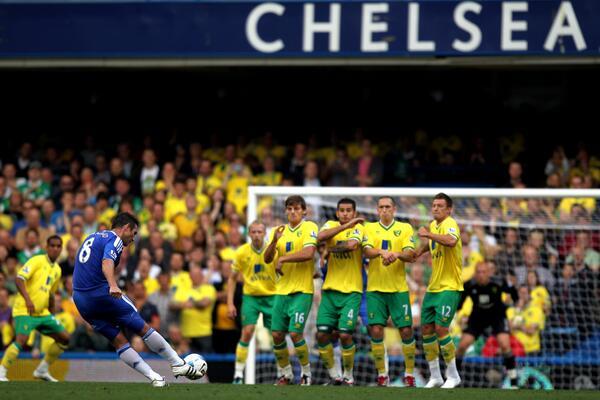 Lampard Takes a Free Kick.
