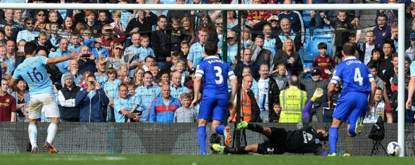 Tim Howard Unluckily Had His Back Push Aguero's Rebound Penalty Into His Goal.