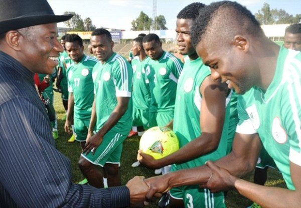 President Goodluck Jonathan Witnesses Eagles Training Session in Addis Ababa.