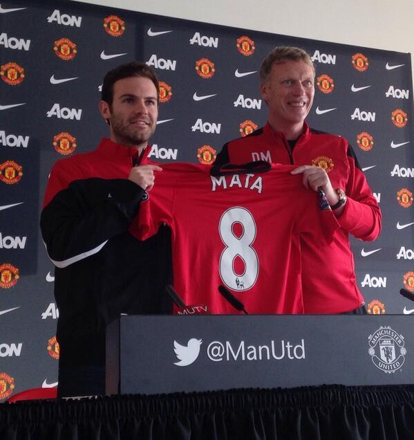 Juan Mata Says Number 8 Jersey, Hopefully Will Bring Him luck.