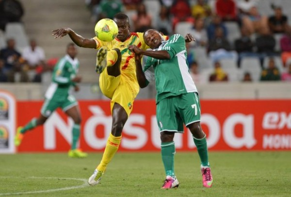 Chrisantus Ejike Uzoenyi in Action for the Super Eagles Against Mali.