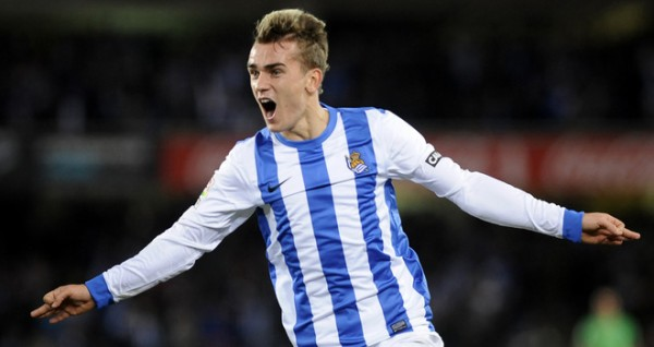 Antoine Griezmann Celebrates His Goal in the 2-0 Basque Derby Win Over Athletic Bilbao Last Season.