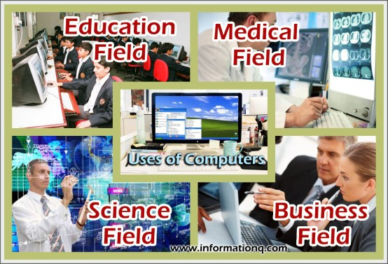 Uses of Computers in various fields