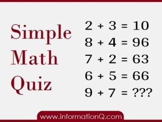 Simple Math Quiz 01