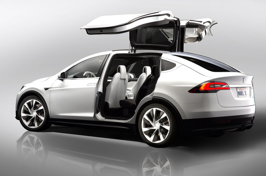 Tesla  Driving Electric Car Innovation   Information Strategy tesla model x concept doors open rear three
