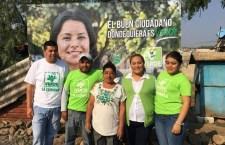 Arranca campaña candidata del  PVEM por la alcaldía de Huajolotitlán