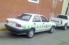 Acusa pasajero a taxista de robo