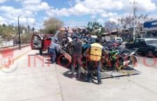 Aseguran 27 motocicletas en operativo